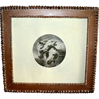 Print of 3 Horses in Painted Frame