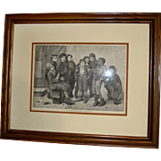 Oak Frame Print of 9 Boys (Jolly Lot)