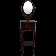 Mahogany Gentleman's Shaving Mirror Stand
