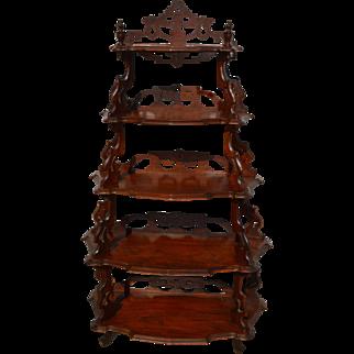 Victorian Curio What Not Étagère Shelf