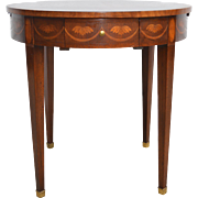 Inlaid Occasional Serving Table Mahogany by Baker