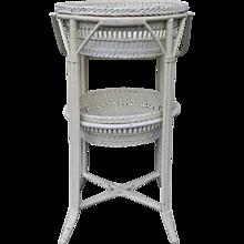 Unusual Wicker Sewing Basket