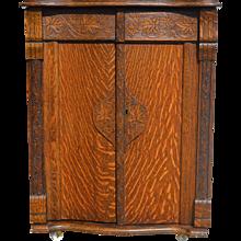 Oak Turn of the Century Cabinet Bar