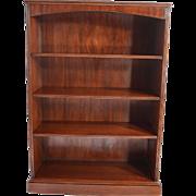 Mahogany Open Refinished Triple Shelf Bookcase
