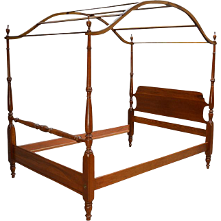 Solid Cherry Pencil Post Canopy Full Size Bed