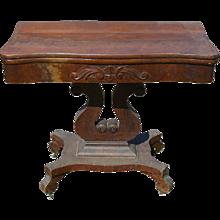 Empire Civil War Era Game Table Carved Base