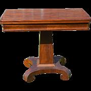 Antique Civil War Era Empire Game Table