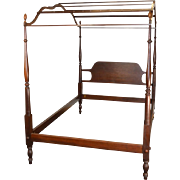 Vintage Mahogany Country Style Period Type Canopy Bed Full Size
