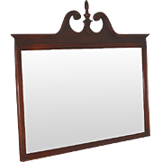 Vintage Large Mahogany Chippendale Wall Mirror