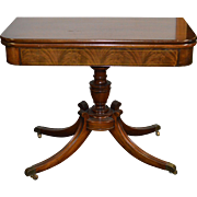 Flame Mahogany Federal Style Card Table