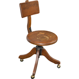 18193  Oak Stenographer Lady's Office Chair