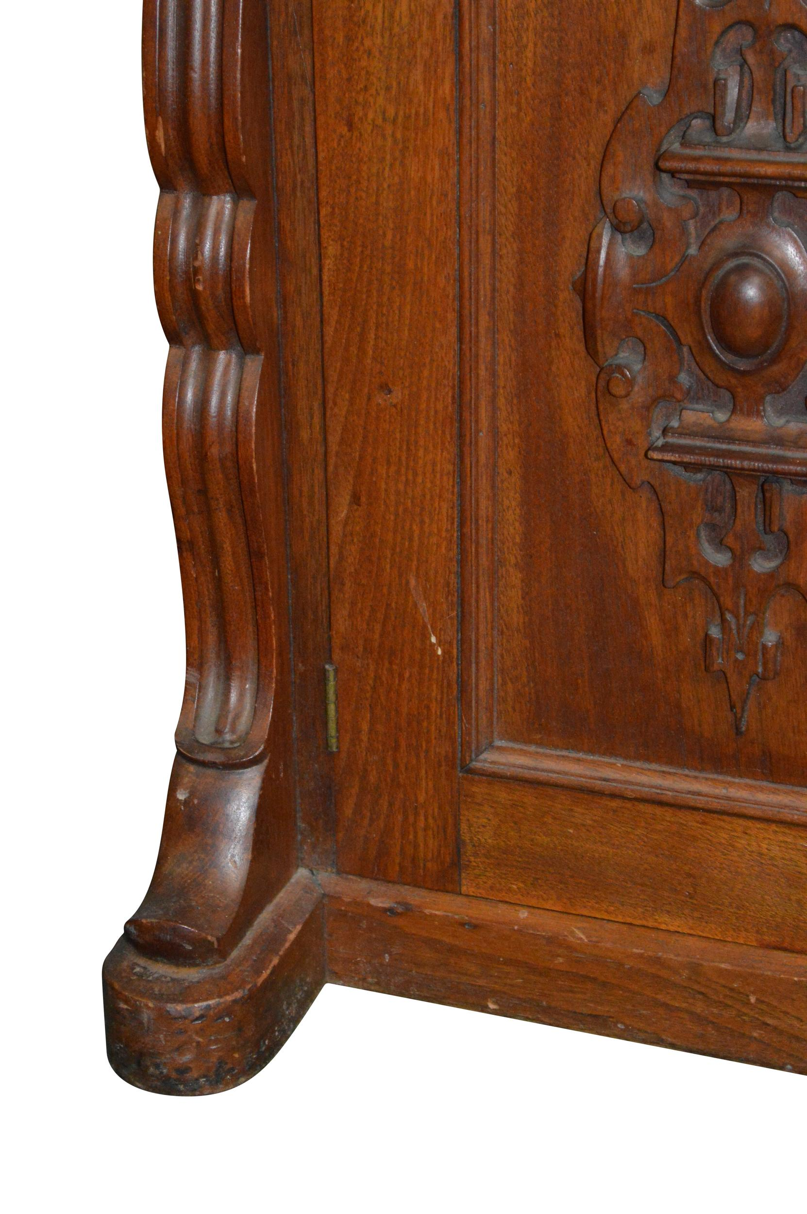 Antique Victorian Walnut Slant Top Secretary Desk from