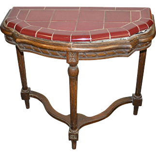 Two Unusual Ceramic Tile Top Stands - 1930s