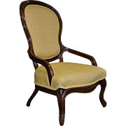 Victorian Yellow Lady's Arm Chair