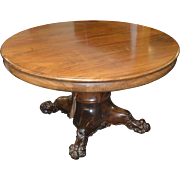 Mahogany Round Banquet Dining Table - Victorian Age