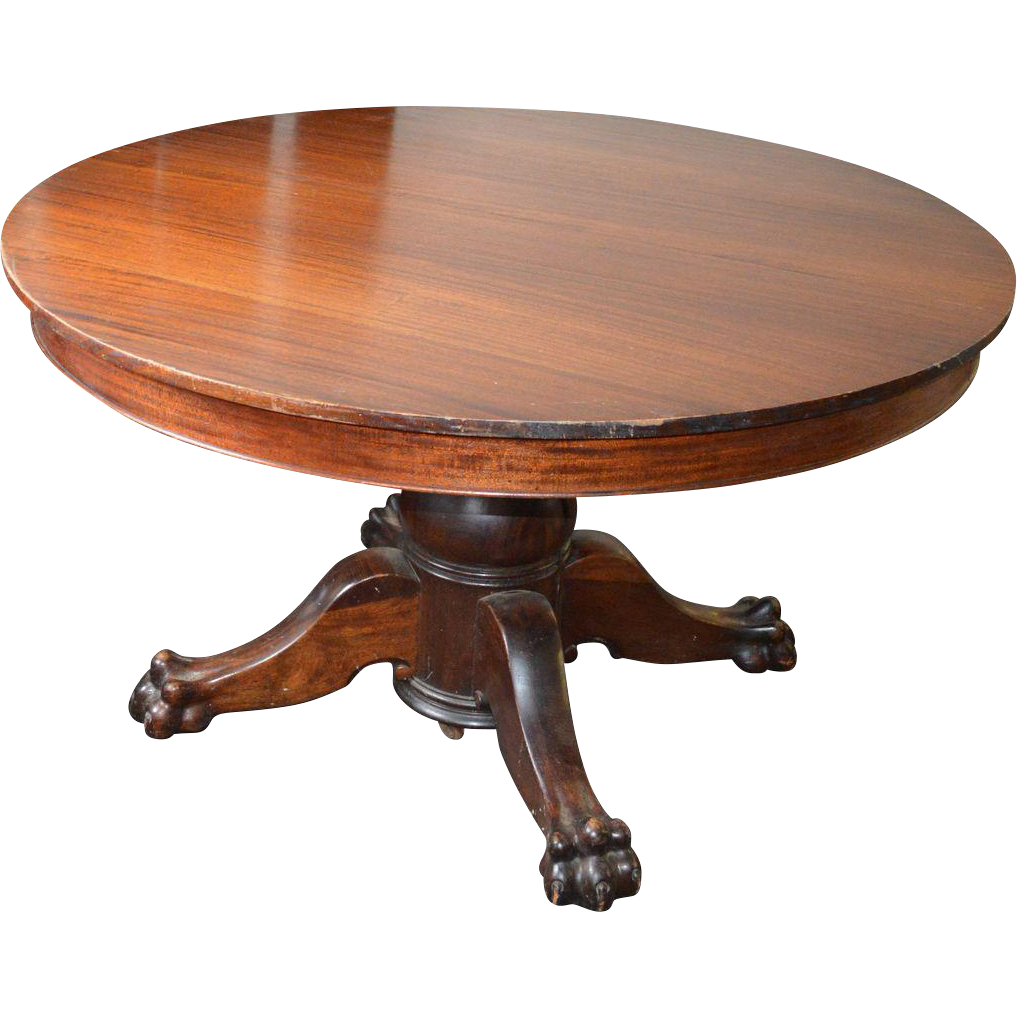 Victorian Claw Foot Split Pedestal Banquet Table W Leaves Maine - Claw foot dining room table