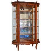 Unusual Oak Dainty Curio Cabinet