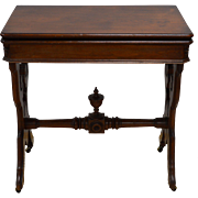 Victorian Walnut Card Game Table