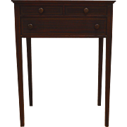 Inlaid Mahogany Sewing Stand