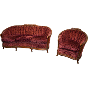 Two Piece French Victorian Parlor Set