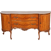 French Flame Mahogany Carved Sideboard