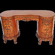 French Victorian Carved Vanity Desk