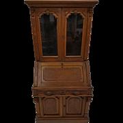 Antique Victorian Civil War Era Walnut Secretary Desk