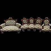 Five Piece Victorian Parlor Set