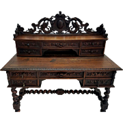 Carved French Barley twist Desk
