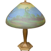 Jefferson Reverse Painted Ice Chip Table Lamp – Large