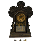 Victorian Oak Gingerbread Clock by Ingraham