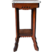 Marble Top Victorian Night Table