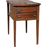 Two Drawer Mahogany End Bedside Stand