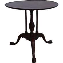Mahogany Chippendale Unusual Parlor Stand