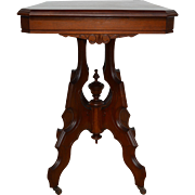 Walnut Victorian Parlor Stand