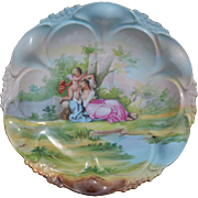 Hand Painted Austrian Victorian Plate Signed