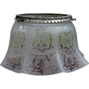 Early Gas Lamp Decorated Ruffle Shade