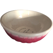 "Vintage Advertising Pottery Stoneware Bowl 7 1/2"", Paneled, Appleton Coop, 1956"