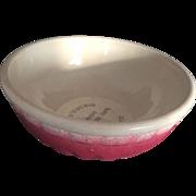 """Vintage Advertising Pottery Stoneware Bowl 7 1/2"""", Paneled, Appleton Coop, 1956"""