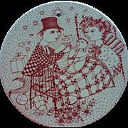 Vintage Bjorn Wiinblad Denmark Nymolle Ceramic Wall Plaque December Mirakel Signed