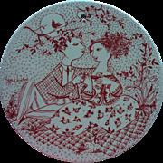 Vintage Bjorn Wiinblad Denmark Nymolle Ceramic Wall Plaque May Harmoni Signed