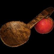 19th Century Primitive Bird's Eye, Strip Burl Maple Wood Scoop Figural Form Original