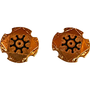 Vintage Antique Gold Filled Ladies Cuff Buttons  Taille D'Epergne Cufflinks