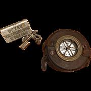 Vintage DETEX Watchclock and Original Key Station Watchman's Clock Post WW II