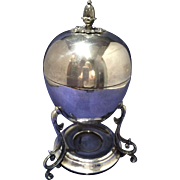 Victorian Silverplate Circa 1890's Egg Ovoid styled Coddler  Warmer Egg Rack