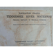 Vintage Tennessee River Navigation Charts 1963 thru 1976, maps, Paducah to Knoxville