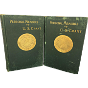"Authentic ""Personal Memoirs of U.S. Grant"", Autobiographical Book Volume 1 & 2, 1st Ed 1885 & 1886"
