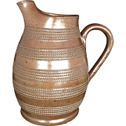 Early 19th Century English Stoneware Pitcher Derbyshire Brown