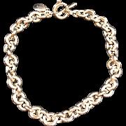 Vintage 1980's Sterling Silver Ralph Lauren Hallmarked Necklace Choker Pocket Watch Chain, 140 Grams, Fabulous