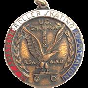 U.S Champion Amateur Roller Skating Asso Medal USOC ASU AAU 1962, 3rd Place